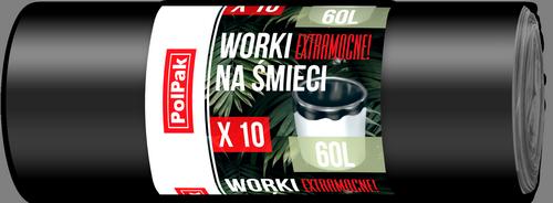 Worki LDPE 60L, 10 szt.